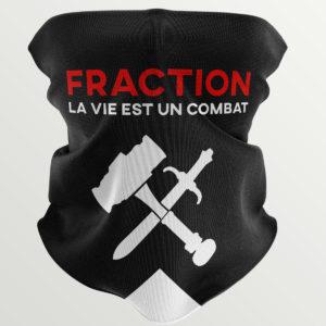 """Masque/Tour de cou """"La vie est un combat"""""""